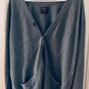 Men's Abercrombie button up cardigan